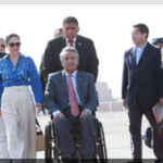 Presidente ecuatoriano llega para participar en XI Gabinete Binacional