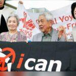 Víctimas japonesas de la bomba atómica celebran el Nobel de la Paz para ICAN