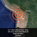 Seísmo de 6.3 grados en la escala Richter sacude el norte de Chile