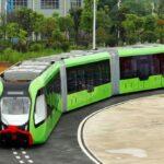 China prueba con éxito primer sistema público de transporte rápido sin conductor