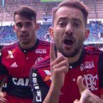 YouTube: Everton Ribeiro celebra gol como la hace Paolo Guerrero en Flamengo