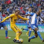 Liga Santander: Atlético Madrid en los descuentos derrota 1-0 al Deportivo