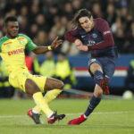 Liga de Francia: Paris Saint Germain con doblete de Cavani goleó 4-1 al Nantes
