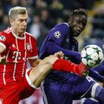 Champions League: Bayern se impone a domicilio 2-1 al Anderlecht
