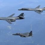 EEUU realizó nuevos ejercicios militares conjuntos con Japón y Corea del Sur,