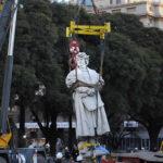 Argentina: Reubican polémica estatua de Cristóbal Colónen Buenos Aires