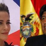 Evo Morales saluda a modelo chilena que apoyó demandamarítima al mar (VIDEO)