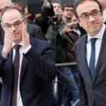 Exconsejeros catalanes acatan la Constitución para salir de la cárcel