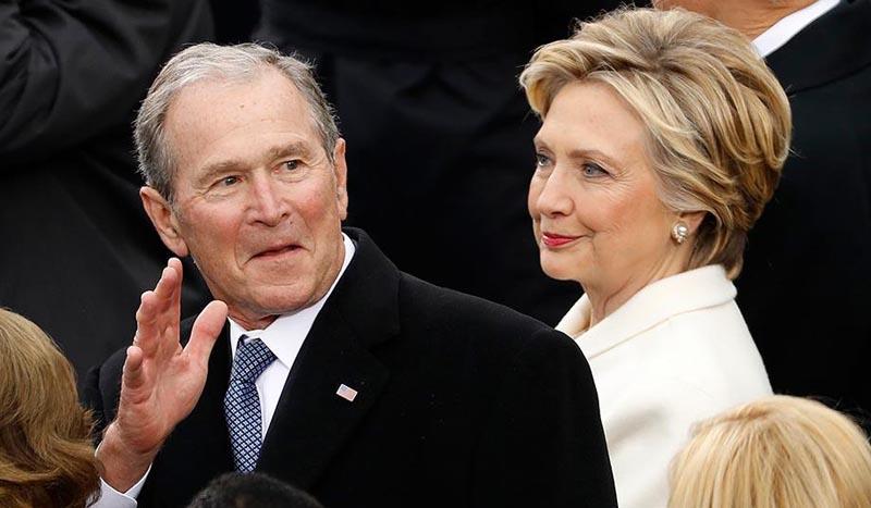 HW Bush califica a Trump de 'fanfarrón'