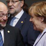 Merkel aboga por estabilidad en Alemania, pero Schulz le exige cambio
