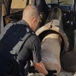 México: Incautan camioneta con narco cañón para lanzar drogas hacia EEUU