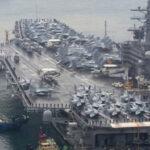 Avión de la Marina de EEUU se estrella en maniobras militares con Japón