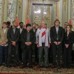 Pesidente Kuczynski recibe a la selección peruana en Palacio de Gobierno