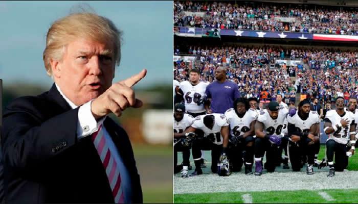 Nueva crítica de Trump a quienes se arrodillan en himno