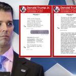 Hijo de Trumpintercambió mensajes con Wikileaks en campaña electoral (VIDEO)