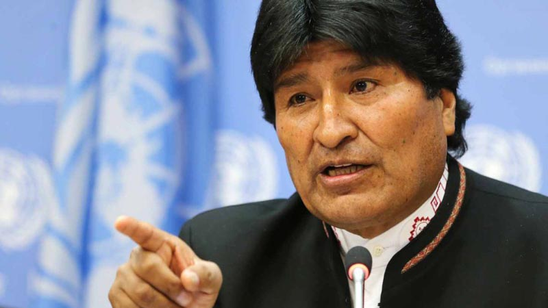 Morales advierte a EEUU; éste promete no conspirar