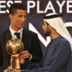 Emiratos Árabes: Cristiano por 5ta. vez obtiene el premio Globe Soccer