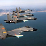 Aviones de guerra de China realizan maniobras en la península coreana