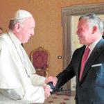 El Papa Francisco y el Rey de Jordania contra capitalidad de Jerusalén (VIDEO)