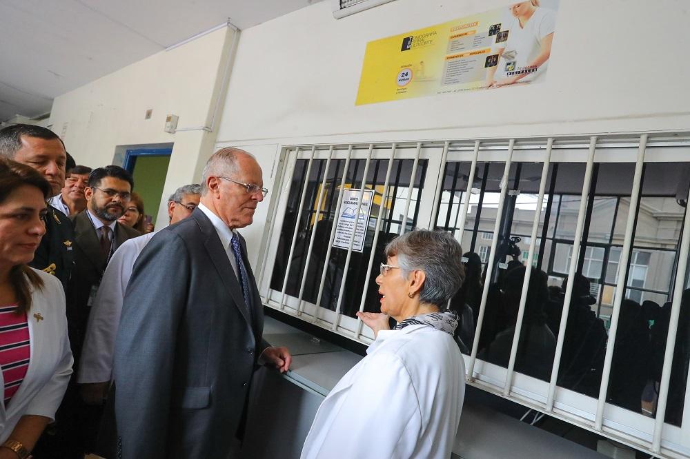 PPK busca cambiar realidad del hospital Arzobispo Loayza — Rosa Gutiérrez