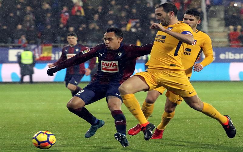 Atlético de Madrid cortó la racha del Eibar de Orellana