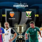 Copa del Rey: Barcelona-Valencia y Leganés-Sevilla juegan semifinales