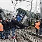 Italia: Descarrilamiento y choque de tren deja al menos 3 muertos y 50 heridos (VIDEO)