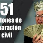 Exdictador Fujimori tardaría 4,740 años en cumplir con reparación civil