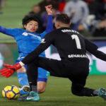 Liga Santander: Getafe en la 19ª jornada se impone por 1-0 al Málaga