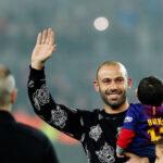 Copa del Rey: Javier Mascherano recibió la última ovación del Camp Nou
