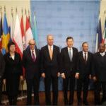 Canciller Luna asistió a ceremonia de instalación de bandera en la ONU