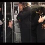 Piloto propone matrimonio a azafata durante anuncios previos al despegue (Video)