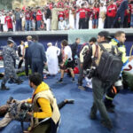 Derrumbe de barrera de vidrio en estadio deja 11 heridos en Copa del Golfo