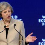 Foro Davos: May pide más acciones en favor del libre comercio