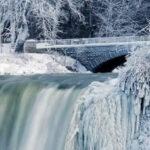 Ola de frío polar congeló cataratas del Niágara y bate récord en EEUU y Canadá (VIDEO)