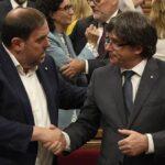 Puigdemont pacta con republicanos de ERC ser Presidente catalán de nuevo