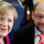 Merkel y Schulz inician con optimismo semana clave para formación de gobierno