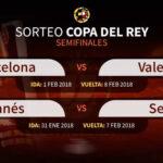 Copa del Rey: Sevilla y Valencia se cruzan en el camino del Barza y Leganés