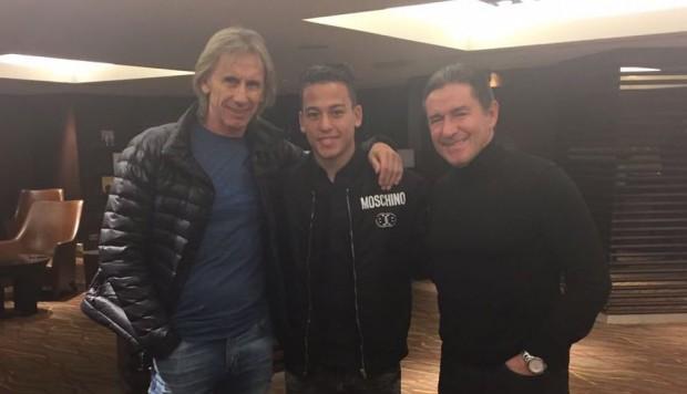 Ricardo Gareca visitó a Cristian Benavente en Bélgica — Selección peruana