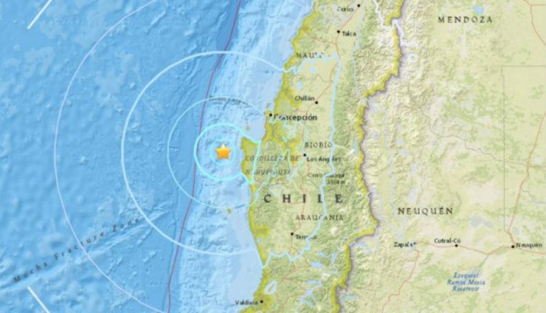 Chile: Sismo de magnitud 5.6 sacude la región sureña del Biobío