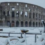 Italia: Ola de frío polar cubre de nieve el coliseo romano y la plaza de San Pedro (VIDEO)
