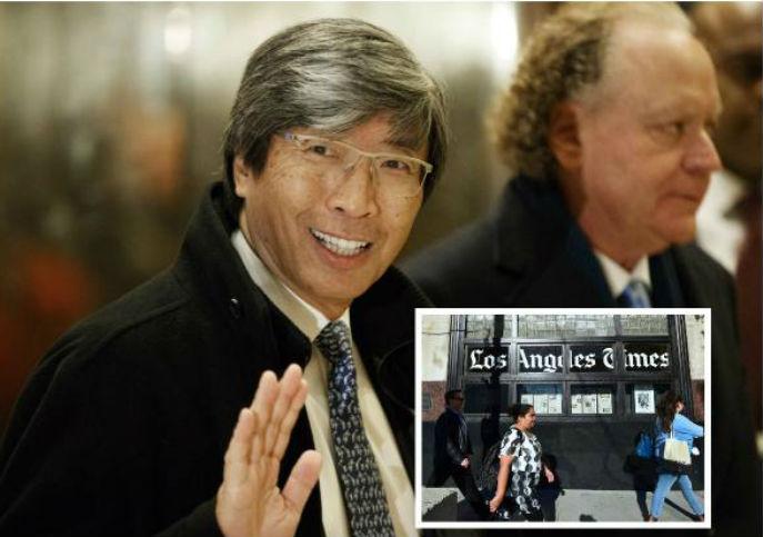 Multimillonario compra el Los Angeles Times por 500 millones (14:45 h)