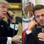 Peña suspende viaje a EEUU tras discutir telefónicamente con Trump sobre el muro
