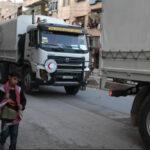 Siria: En medio de bombardeos convoy humanitario llevó ayuda a Guta Oriental (VIDEO)