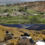 Especialistas de Ingemmet estudian el deslizamiento de tierra en región Cusco
