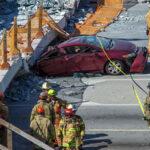 Confirman cuatro muertos por derrumbe de puente en Miami (Videos)