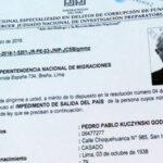Poder Judicial notificó a Migraciones impedimento de salida contra Kuczynski