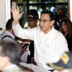 Martín Vizcarra llegó al país para asumir la Presidencia de la República (Fotos y Video)