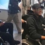 Brasil: En silla de ruedas llegó Neymar para ser operado del pie este sábado (VIDEO)
