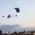 México: Muere mujer paracaidista luego de chocar con compañero en el aire (VIDEO)